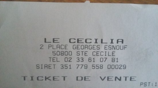Sainte-Cecile, France: ticket