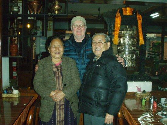 Hotel Utse: Diki & Ugen Tsering (Mama & Papa) and Basa Pete.