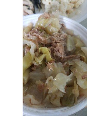 Ka'aloa's Super J's: pork and cabage