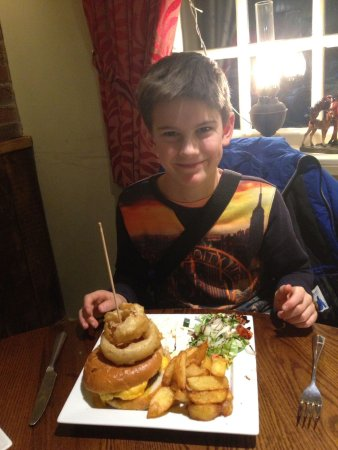 Collingham, UK: pleased with his choice of meals and he ate it all up too!