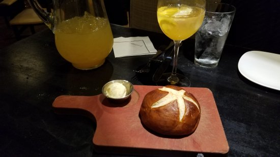 Burr Ridge, IL: Pretzel Bread: Warm and taste