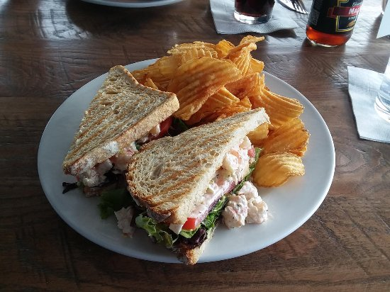 Fulton, MD: shrimp salad sandwich and chips (yummy!)