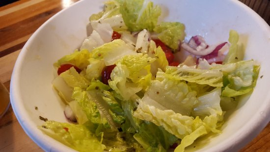 Rincon Argentino: Romaine salad. All you can taste is the salad oil!