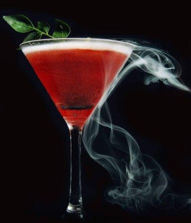 Avant Garde Cocktail Bar: Marshmallow infused vodka,raspberries flirting with mezcal, citrus juice and fresh pineapple.