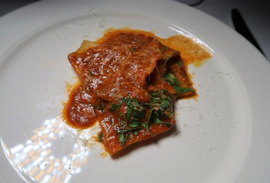 "Babbo: Duck Tortelli with ""Sugo Finto"""