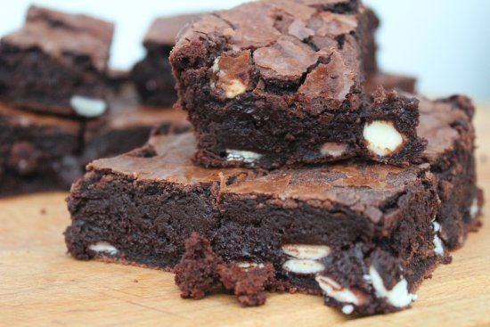 Waterlooville, UK: The crafty chocolatier's triple belgian chocolate brownie