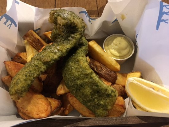 Jack White's Creative Fish & Chips: Basilico fish