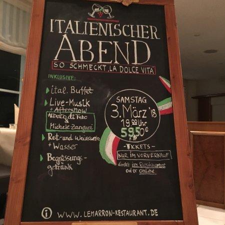 Menden, Germany: le marron Restaurant