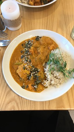 Clondalkin, Ireland: Chick pea curry