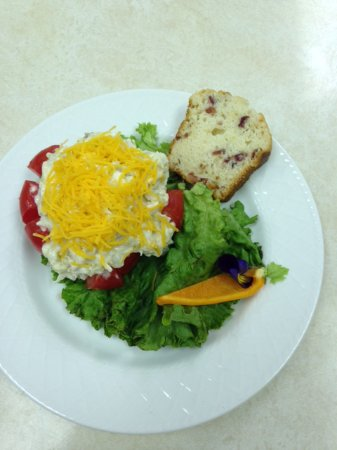 Manchester, IA: Chicken Salad Stuffed Garden Tomato is a summer favorite!
