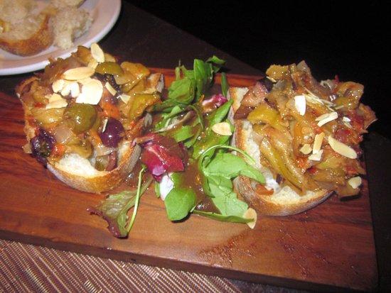 Trevose, PA: Eggplant Caponata Bruschette