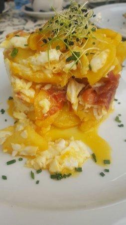 Alsur Cafe: Huevos estrellados con jamon