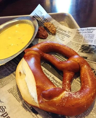 Lakeville, MN: Pretzel with Cheese Sauce, a Must Have for an Appetizer!!!