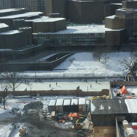 Rideau Canal : Le Canal Rideau vue de mon hôtel, Westin Ottawa! Aussi à l'extérieur!