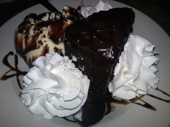 Weirton, WV: Chocolate cake that can be served with a side of ice cream and a drizzle if wanted.