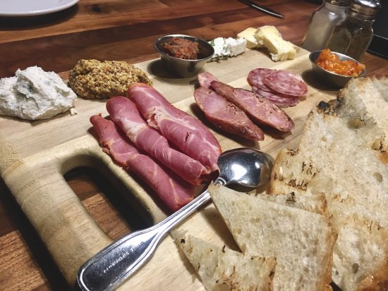 Charcuterie plate, shrimp and grits...yum!