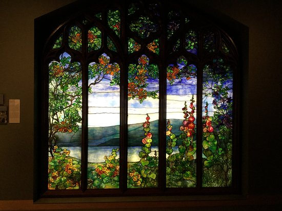 Corning, État de New York : One of many stained glass window samples