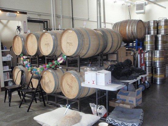San Leandro, CA: barrels at Cleophus Q