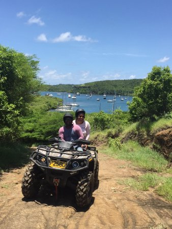 Saint George Parish, Grenada: Stop on ATV trail for a pic