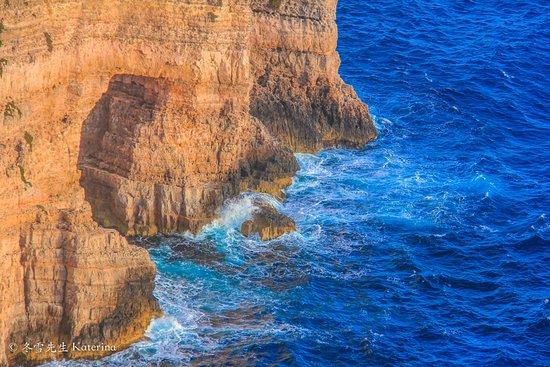 Sannat, مالطا: Extraordinary Ta Cebc Cliffs and caves