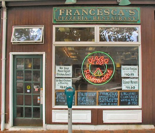 Francesca's Pizzeria & Restaurant, across from the LIRR station in Great Neck