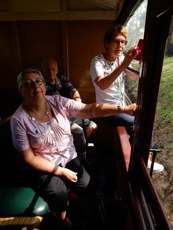 Puffing Billy Railway: Carriage with big open windows