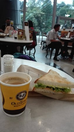 Old Town White Coffee: Looking out at Klia