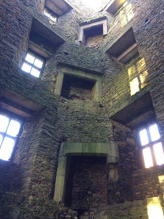 Kanturk, Ireland: Fireplaces inside the castle.