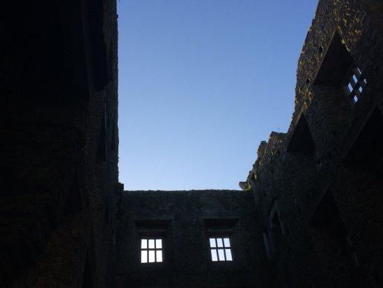 The sky above Kanturk Castle.