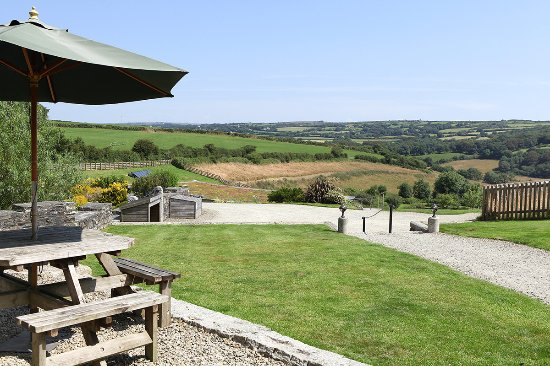 Camelford, UK: View from the barns