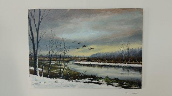 National Park De Biesbosch, Holandia: individual painting by Teus Verhoeven