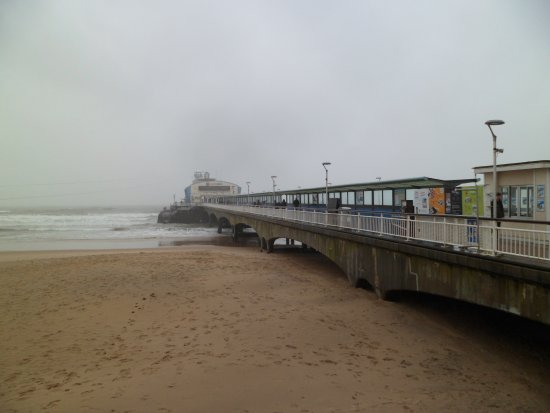 Bournemouth Pier : View from the sodden beach