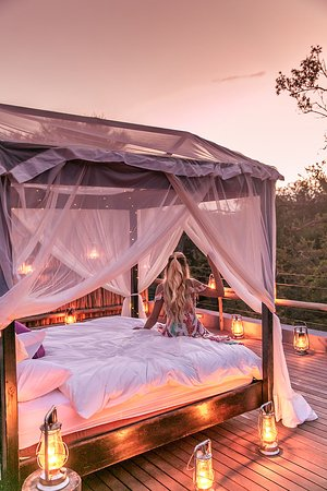 Jaci's Safari Lodge: This is the upstairs star bed