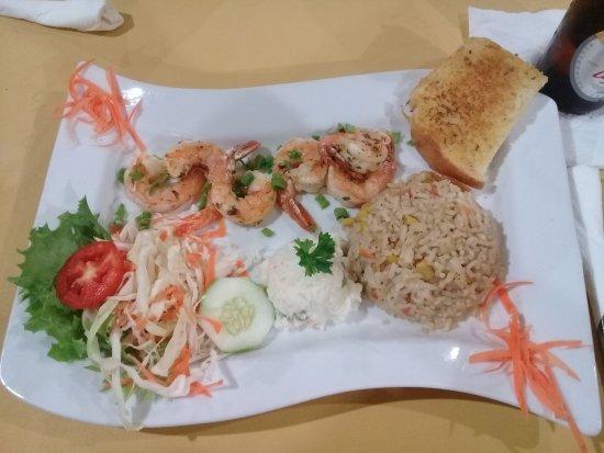 The Ranch of Mayaro: Grill Shrimp Meal