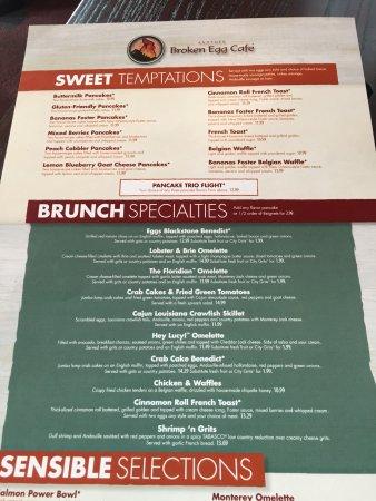 Another Broken Egg Cafe Menu New Orleans