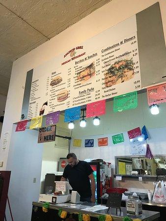 McPherson, KS: order counter and menu