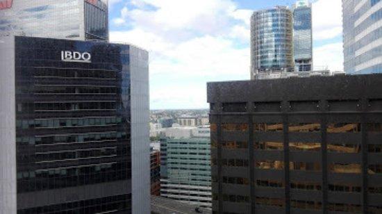 Travelodge Hotel Sydney Wynyard: Aussicht Fitnessraum
