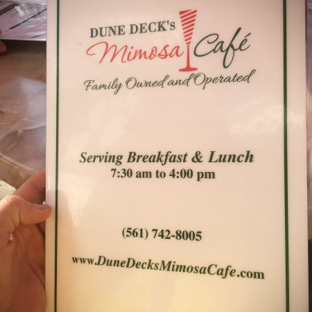 Dune Deck S Mimosa Cafe