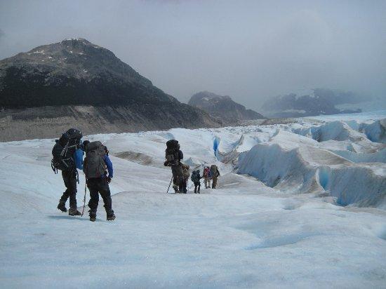 Aisen Region, Chili : On the glacier