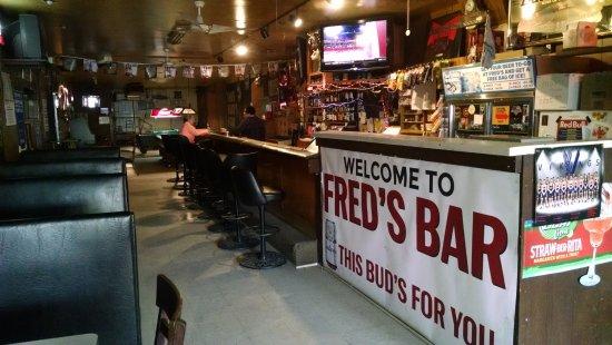 Avoca, IA: Fred's Bar - the bar area