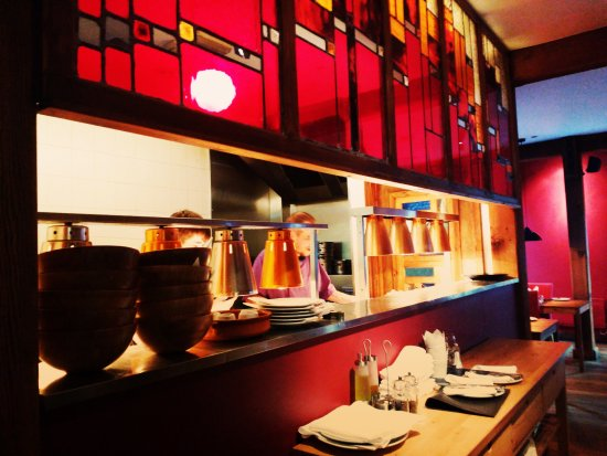 Lime Tree: The open kitchen where you can see your meal being prepared.