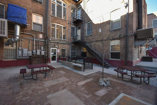 11th Avenue Hotel & Hostel: The back patio: a great place for s'mores and late night conversation.