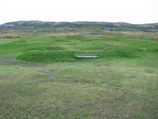 L'Anse Aux Meadows National Historic Site: Foundation remnants of Viking structure