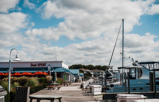 Spring Lake, MI: Standing on the surrounding dock