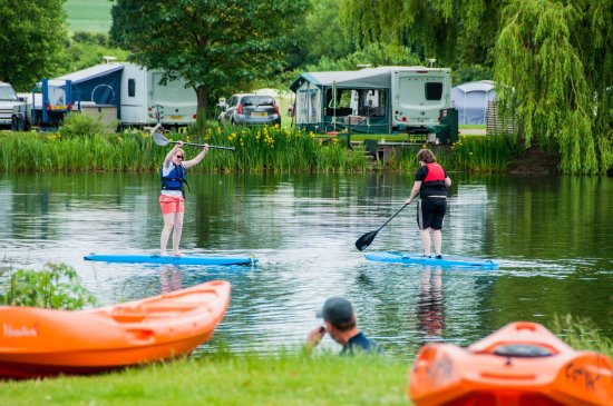 Peterborough, UK: Paddle boarding River Nene Yarwell Mill Country Park