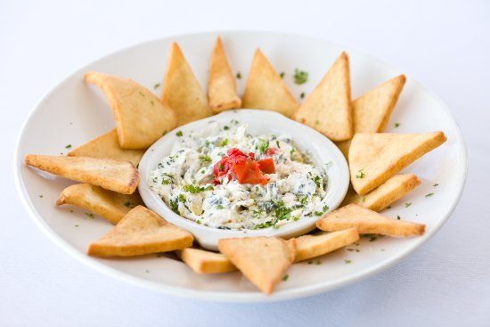 Spring Lake, MI: Spinach and Artichoke Dip with Toasted Pita Points