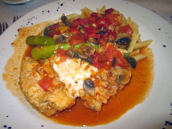 Feasterville, PA: Chicken Maximo with Asparagus & Penne Pasta
