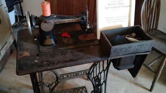 Skerries Mills: old sewing machine