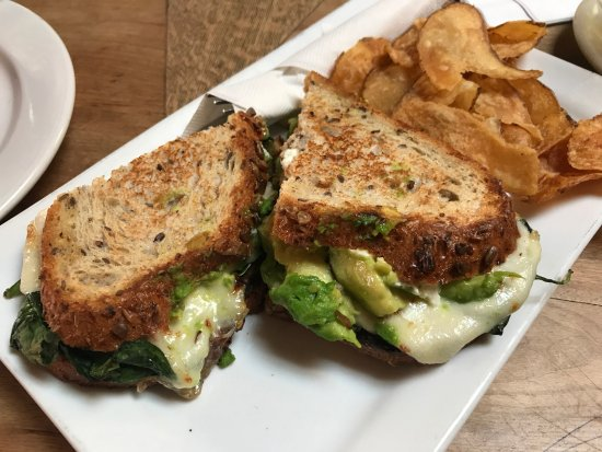 "Tryst Coffee House and Bar: Delicious (though cheese-heavy) sandwich. ""The Linda"""