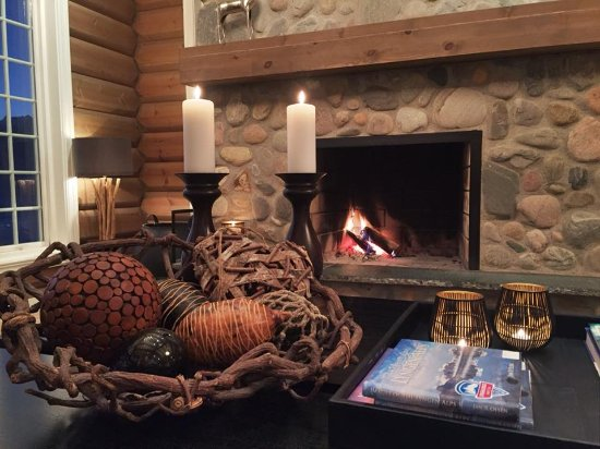 Olderdalen, النرويج: the fireplace is always going